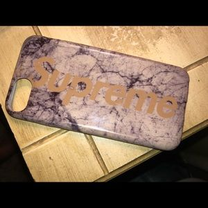 authentic space gray/gold supreme iPhone 8 case